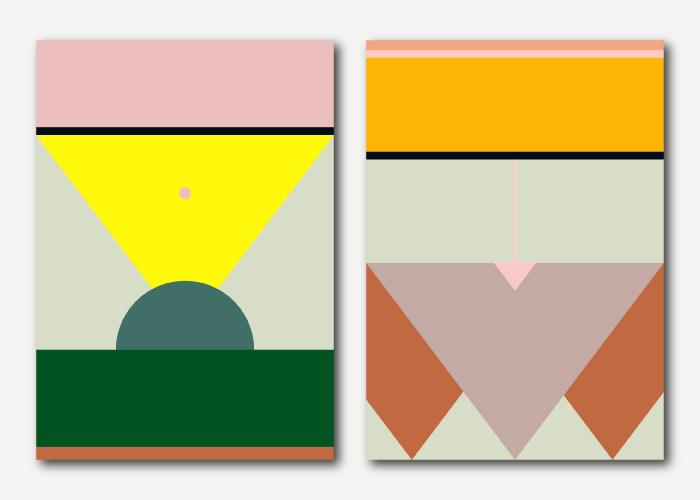 Portfolio update: kleurrijke abstracte design posters
